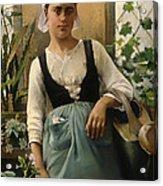The Garden Girl Acrylic Print