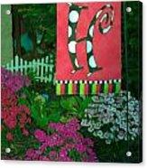The Garden Acrylic Print by Michael Sokalski