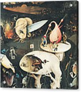 The Garden Of Earthly Delights Hell, Right Wing Of Triptych, C.1500 Oil On Panel See 322, 3425 Acrylic Print