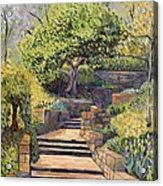 The Garden Stairs Acrylic Print