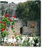 The Garden Tomb. East Jerusalem. Acrylic Print
