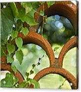 The Garden Wall Acrylic Print