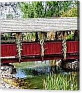 The Gardner Villiage Bridge Acrylic Print