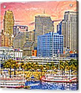 The Garish City Cincinnati Acrylic Print