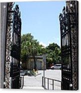 The Gate At Vizcaya Gardens Acrylic Print