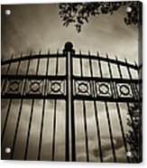 The Gate In Sepia Acrylic Print