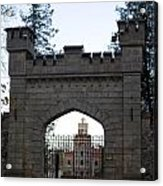 The Gates Leading Into New Sigulda Castle Acrylic Print