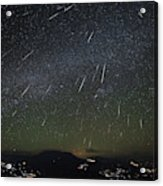 The Geminids Meteor Shower Streaks Acrylic Print