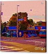 The Georgetown Sports Pub Soccer Bar Bank St The Glebe Paintings Of Ottawa Carole Spandau Artist Acrylic Print