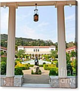The Getty Villa Main Courtyard View From Covered Walkway. Acrylic Print