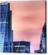 The Gherkin And The Cheesgrater London Acrylic Print