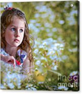 The Girl And The Butterfly Acrylic Print