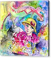 The Girl And The Lizard Acrylic Print