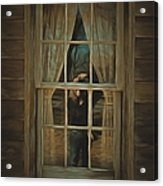 The Girl In The Window  Acrylic Print