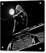 The Girl On The Roof Acrylic Print