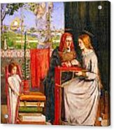The Girlhood Of Mary Virgin Acrylic Print