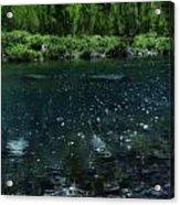 The Glimmer Of Maroon Lake Acrylic Print