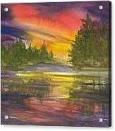 The Glow Of Maine Acrylic Print