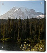 The Glow Of Mount Rainier Acrylic Print