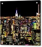 The Glow Of The New York City Skyline Acrylic Print