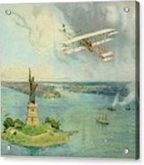 The 'gold Bug' Biplane  Designed Acrylic Print