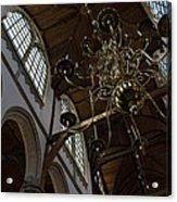 The Golden Chandelier  Acrylic Print
