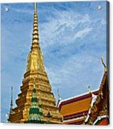 The Golden Chedis At Grand Palace Of Thailand In Bangkok Acrylic Print