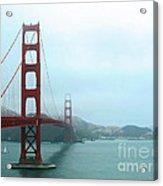 The Golden Gate Bridge And San Francisco Bay Acrylic Print