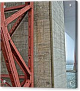 The Golden Gate - Fort Point View Acrylic Print
