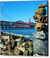 The Golden Gate Rock Pile Acrylic Print
