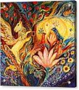 The Golden Griffin Acrylic Print by Elena Kotliarker
