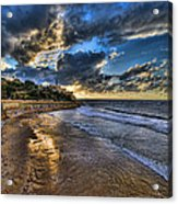 the golden hour during sunset at Israel Acrylic Print by Ronsho
