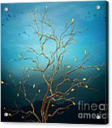 The Golden Tree Acrylic Print by Bedros Awak