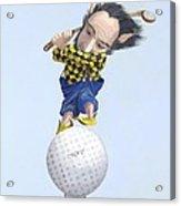 The Golfer Acrylic Print