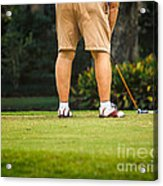 The Golfer Acrylic Print
