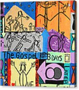 The Gospel Acrylic Print by Anthony Falbo
