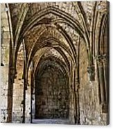 The Gothic Cloisters Inside The Crusader Castle Of Krak Des Chevaliers Syria Acrylic Print