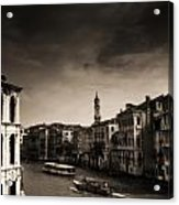 The Grand Canal Acrylic Print by Aaron Bedell