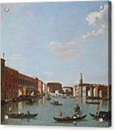 The Grand Canal And San Geremia, Venice, 18th Century Acrylic Print