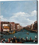 The Grand Canal At Venice Acrylic Print by Antonio Canaletto