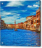 The Grand Canal Impasto Acrylic Print