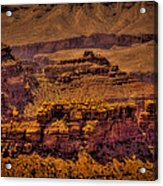 The Grand Canyon Vintage Americana Viii Acrylic Print