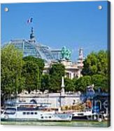 The Grand Palais And The Alexandre Bridge Paris Acrylic Print