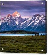 The Grand Tetons mountain range in Wyoming, USA. Acrylic Print