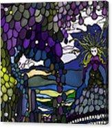 The Grape Arbor Medusa Acrylic Print by Constance Krejci