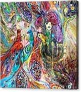 The Grapes And Menorah Acrylic Print by Elena Kotliarker