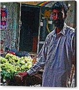 The Grapes Man Acrylic Print