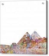The Great Pyramids Colorsplash Acrylic Print
