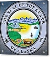 The Great Seal Of The State Of Alaska  Acrylic Print