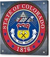 The Great Seal Of The State Of Colorado Acrylic Print